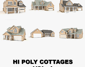 3D Hi-poly cottages collection vol 4 gutters