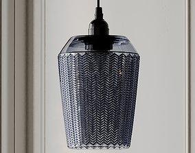 Tall Chevron Textured Pendant - Grey 3D model