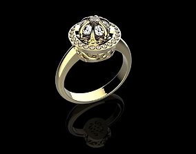Beautyful Ring with stones 3DM STL