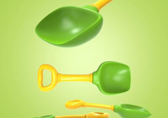 3D Toy Shovel Scoop