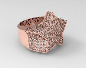 Star ring diamond v2 3D print model