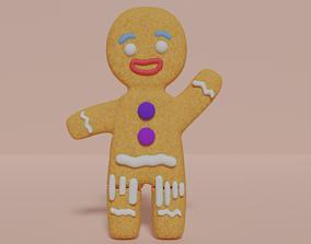 Shreks GingerBread - Biscoito do Filme Shrek 3D asset