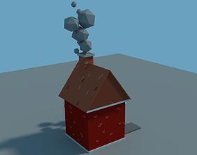 3D asset Low Poly Cartoon House Model