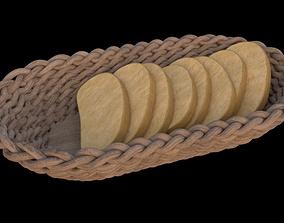 3D model PBR Bread Basket