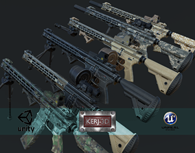 3D model Modular Combat Rifle-Squad Automatic Weapon