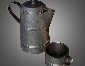 Coffee Canteen and Cup 3D asset