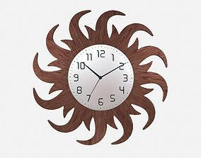 3D Wall Clock Sun