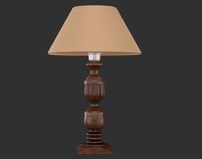 Wooden Lamp Shade 3D asset