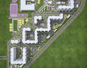 3D asset Urban Area 04