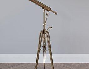 19th-century Parisian Brass TELESCOPE 3D model