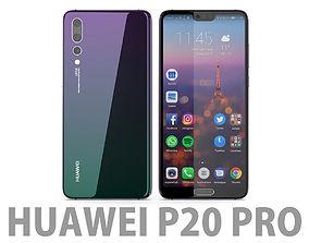 3D model mediapad Huawei P20 Pro Twilight