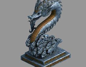 3D model Zhentian Palace-Wall-Statue 02