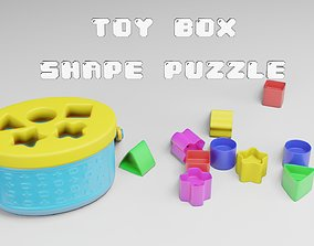 3D model Toy Box - Shape Puzzle - Playset for Babies