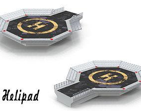 Helipad 3 3D asset