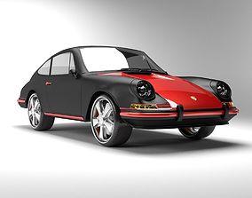 Porsche 911 T 1968 3D model