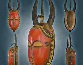 African Guro Vintage Face Mask 3D model