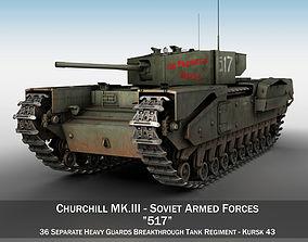 3D Churchill MK III - 517 - Soviet Army