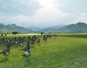 3D model Xizang Qinghai Tibet Plateau Mongolia grassland