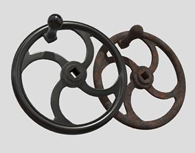 3D model Crank Wheel With Handle