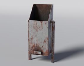 3D asset low-poly Trash Bin