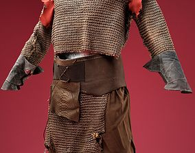 3D model Medieval Soldier Hunter Outfit