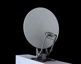 satelite dish network satellite 3d model