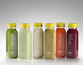bottles Juice Bottles 03 3D