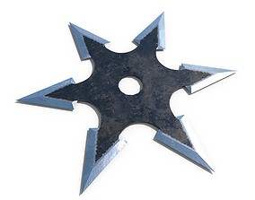 3D asset Shurikens 3 Low Poly