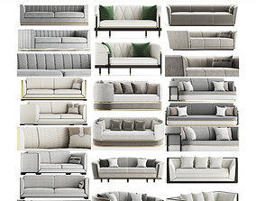 Sofas 3d models collection 10 pieces