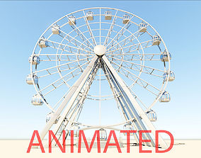 Ferris Wheel realistic 3d model vray animated