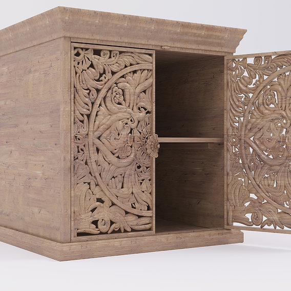Sideboard with two carved doors