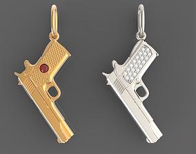 Pendant gun colt 3D print model