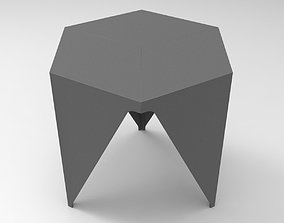 3D Hex Cube Stool