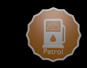 Low poly symbol petrol 1 3D asset