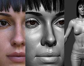 Girl full body Zbrush 3D model