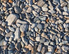3D model Rocky beach material