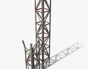 Rusty Truss Beams 3D asset