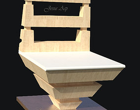 3D print model chair-jesus asp silla monic