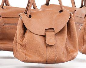 3D asset Mini Brown Leather Handbag