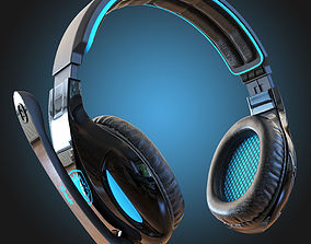 Headphones Sades SA-902 3D model