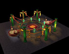 map arena lowpoly game 3D asset
