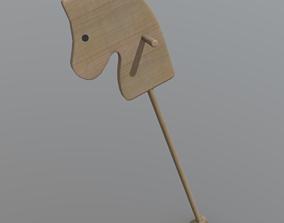 3D asset Horse on Stick