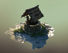 Wet Old Medieval Well - Highpoly Model
