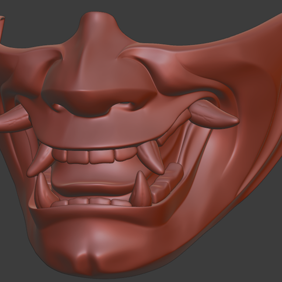 Hannya half mask 3D print model 3D print model