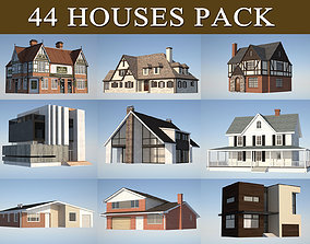 3D asset VR / AR ready House Pack