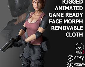 Female Soldier 1 3D asset