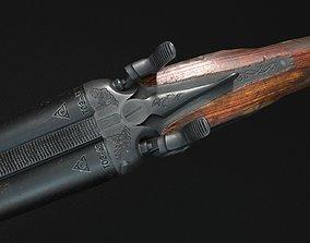 3D asset Sawn-off shotgun TOZ-63