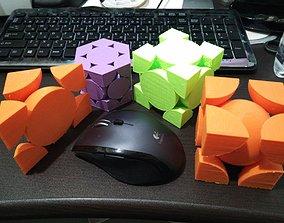 physics 3D printable model crystal
