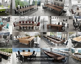 104 office interiors 3D model