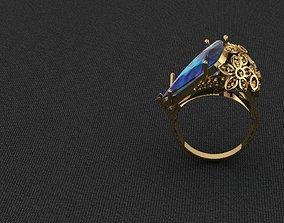 Ring 3D print model precious